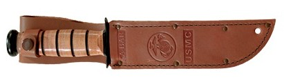 Brown Leather Sheath USMC Full Size