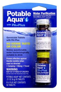 Potable Aqua Plus Water Treatment Capsules
