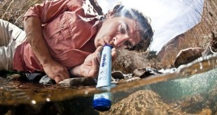 lifestraw in use