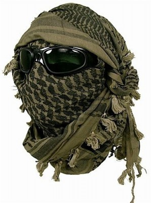 Keffiyeh Tied On Head